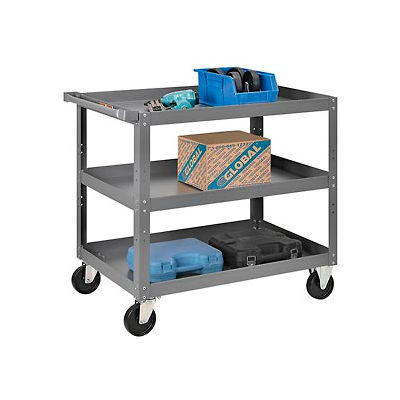 3 Shelf Steel Stock Cart 36 x 24 800 Lb. Capacity