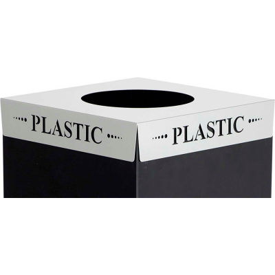 Safco® Square-Fecta™ 2990PC Waste Receptacle Lid, Plastic