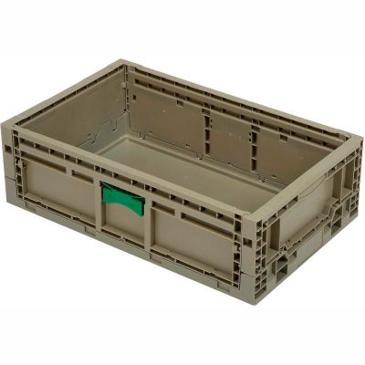 """Folding Transport Container KD2415-07 23-15/16""""L x 15""""W x 7-7/16""""H Gray"""