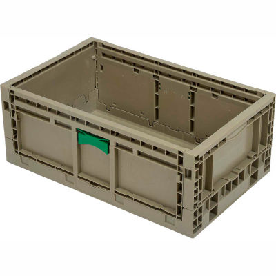 """Folding Transport Container KD2415-09 23-15/16""""L x 15""""W x 9-1/2""""H Gray"""