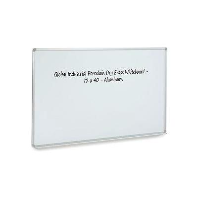 Porcelain Dry Erase Whiteboard - 72 x 48 - Aluminum