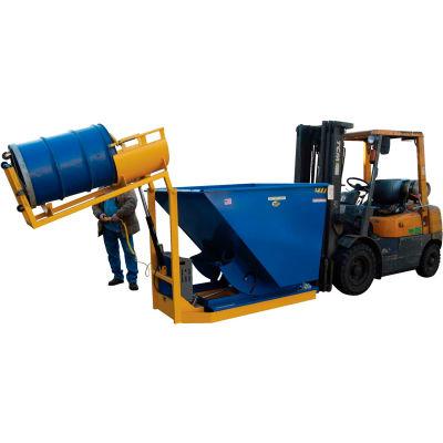 Battery Powered Forklift Trash Can Dumper T-HOP 400 Lb. Capacity
