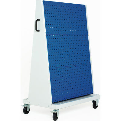 """39x18x63"""" Trolley - 3 Perfo Panels - 3 Louvered Panels"""