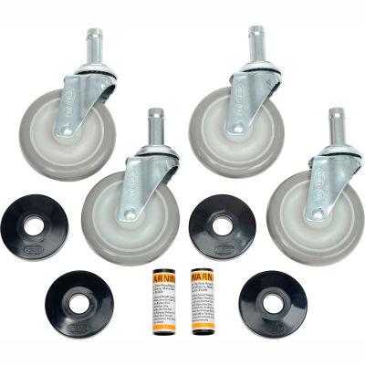 "Nexel® CA5S4 (4) Swivel Stem Casters, 5"" Polyurathane, Set of (4), 1200 lb Capacity"