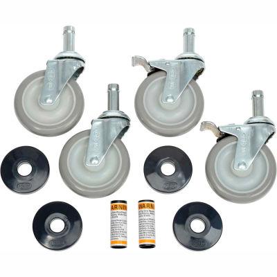 "Nexel® CA5SB (2) Swivel (2) Swivel Brake Casters, 5"" Polyurethane, Set of (4), 1200 lb Capacity"