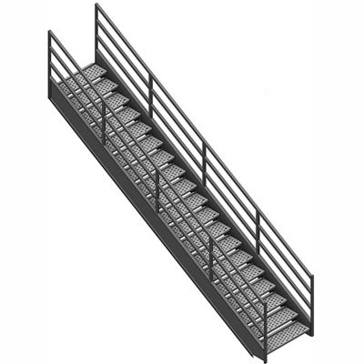 """7 Step Industrial Staircase - 63"""" Landing Height"""