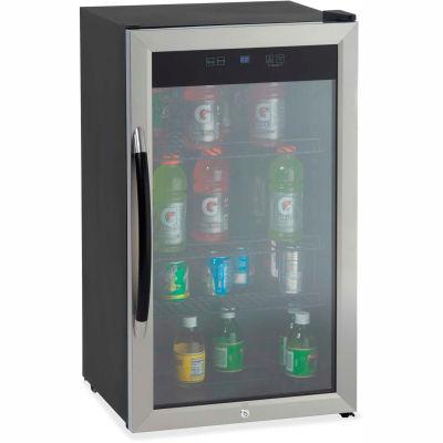 "Avanti Beverage Center, 18.8""W x 19-1/2""D x 33.8""H, Black/Stainless Steel"