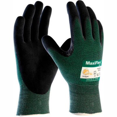 PIP MaxiFlex® Cut™ Micro-Foam Nitrile Coated Gloves, Black, Large, 12 Pairs