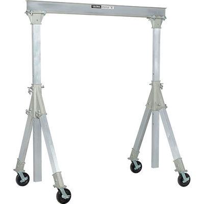 "Global Industrial ™ Adjustable Height Aluminum Gantry Crane, 9'8""W x 9'6-12'H, 2000 Lb. Cap."