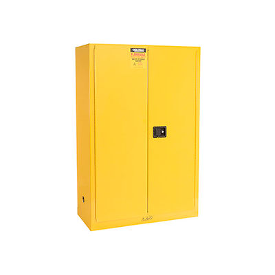 """Global™ Flammable Cabinet - 45 Gallon Manual Close Double Door - 43""""W x 18""""D x 65""""H"""