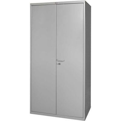 Global Industrial™ Heavy Duty Steel Storage Cabinet, 16 GA. Steel All-Welded Gray, 36Wx24Dx72H