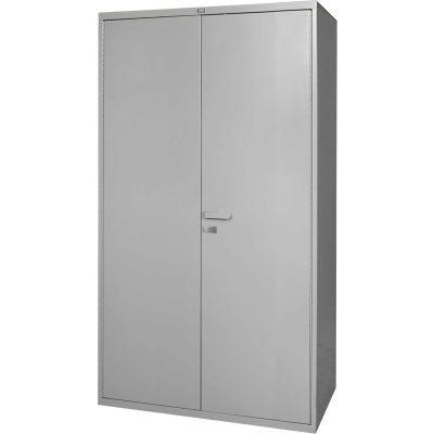 Global Industrial™ Heavy Duty Steel Storage Cabinet, 16 GA. Steel All-Welded Gray, 48Wx24Dx84H