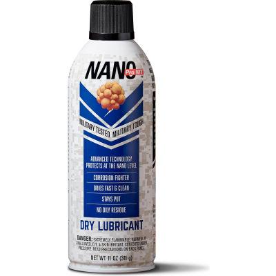 NDT11D - Nano Dry Lubricant - 11 oz Aerosol Can - Package Qty 12