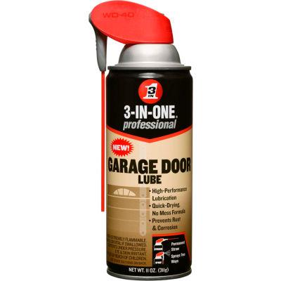 WD-40 ® 3-In-One ® Garage Door Lube - 11 oz. Aerosol Can - 100581 - Pkg Qty 6