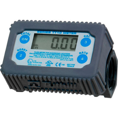 Fill-Rite TT10PN, Electronic In-line Digital Turbine Meter, 35 GPM, Engineered Polymer