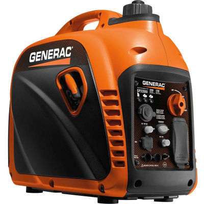 GENERAC® 7117, 1700 Watts, Inverter Generator, Gasoline, Recoil Start, 120V