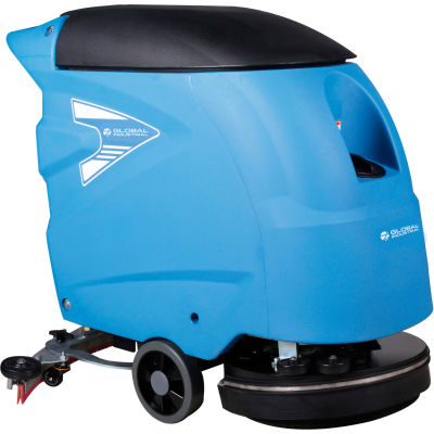 "Global Industrial™ Auto Floor Scrubber 18"" Cleaning Path, Two 115 Amp Batteries"