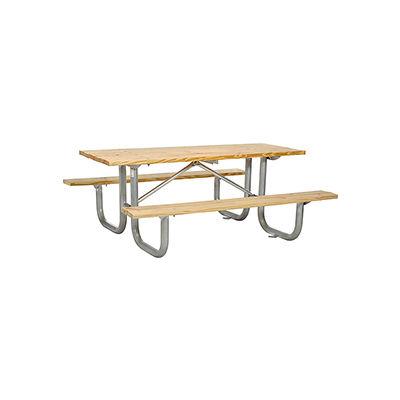 "72"" Wood Picnic Table"