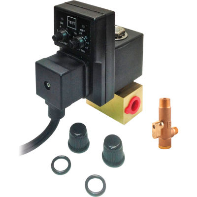 """Arrow Pneumatics 5802S, Electric Drain with Strainer, 2.5 GPM, 1/4"""" NPT, 1-Phase 115V"""