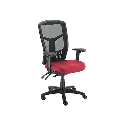 Interion® Mesh Task Chair - Fabric - High Back - Red