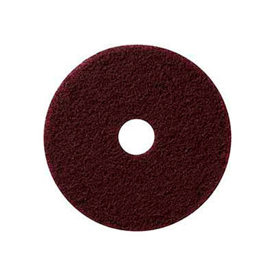 """Global Industrial™ 13"""" Maroon EcoPrep """"EPP"""" Chemical Free Stripping Pad - 10 Per Case"""