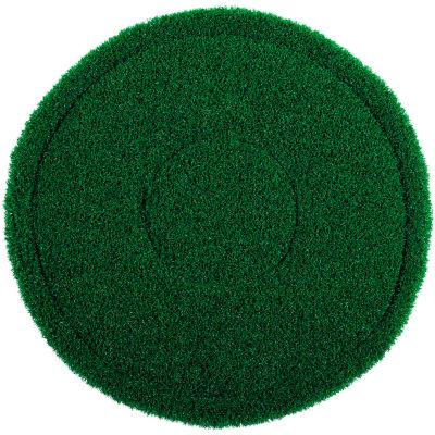 """Global Industrial™ 13"""" Green Scrub Brush Alternative Scrubbing Pad - 4 Per Case"""