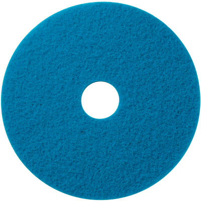 """Global Industrial™ 17"""" Blue Scrubbing Pad - 5 Per Case"""