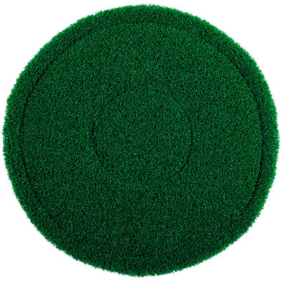 "Global Industrial™ 17"" Green Scrub Brush Alternative Scrubbing Pad - 4 Per Case"