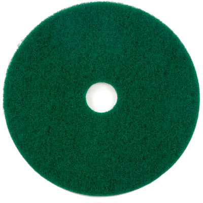 "Global Industrial™ 18"" Green Scrubbing Pad - 5 Per Case"