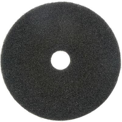 "Global Industrial™ 18"" Stripping Pad, Black, 5 Per Case"