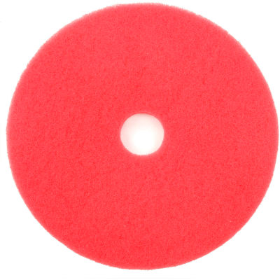 """Global Industrial™ 18"""" Buffing Pad, Red, 5 Per Case"""