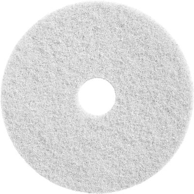 "Diamond Polishing 20"" White 800 Grit Deep Cleaning Pad - 2 Per Case"