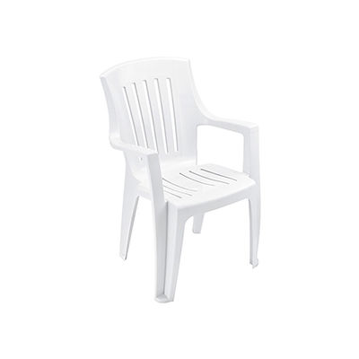 Outdoor Resin Stacking Chair - White - Pkg Qty 4