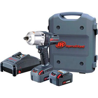 "Ingersoll Rand W7150-K22 1/2"" 20V Hi-Torque Cordless Impact Wrench Kit 2 Batteries 5.0Ah"