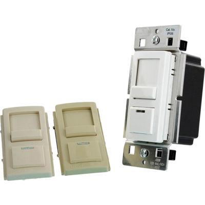 Leviton IPL06-10Z  Decora Slide Dimmer, Use with LED/CFL/INC Lamps, 120V, White-Ivory-Light Almond