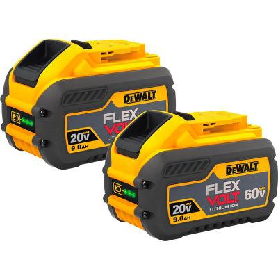 DeWALT® DCB609-2 20/60V Li-Ion Flexvolt Battery 9Ah Extended Capacity 2Pk