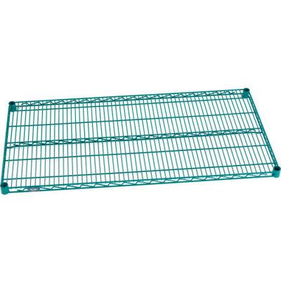 """Nexel® S1236G Poly-Green™ Epoxy Wire Shelf 36""""W x 12""""D"""