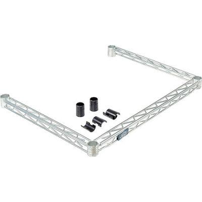 """Nexel® DF1848Z Poly-Z-Brite® Three-Sided Wire Frame 48""""W x 18""""D"""