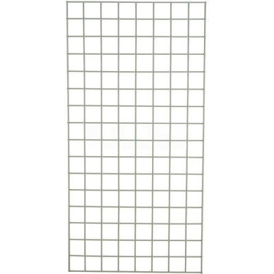 """Global Industrial™ Wire Grid Panel 48"""" x 18"""" Poly-Green"""