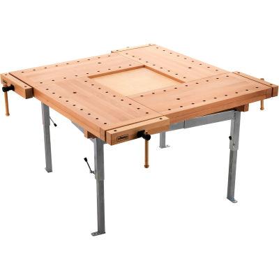 4 School Bench Tops with Steel Trestle