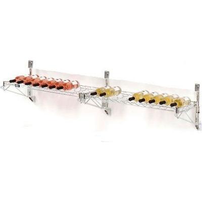 """Wine Bottle Rack - Double Wide 2 Shelf Wall Mount 36 Bottle 72""""W x 14""""D x 14""""H"""