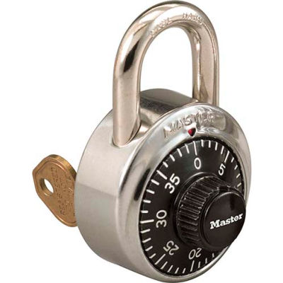 Master Lock® No. 1525STK Combination Padlock Key Access with 1 Control Key & Chart, Price Each - Pkg Qty 50