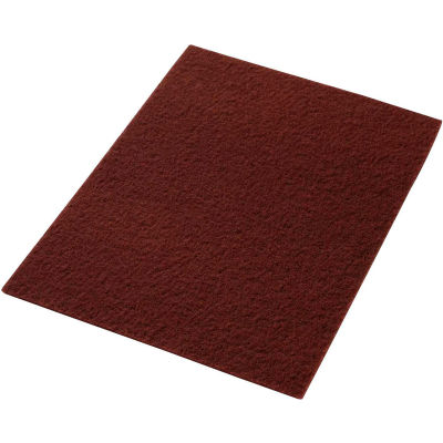 """Global Industrial™ 14"""" x 20"""" Maroon EcoPrep """"EPP"""" Chemical Free Stripping Pad - 10 Per Case"""