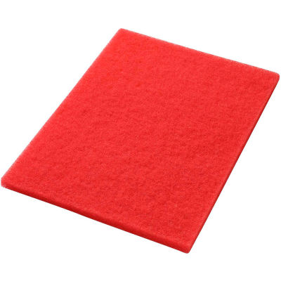 """Global Industrial™ 14"""" x 20"""" Red Buffing Pad - 5 Per Case"""