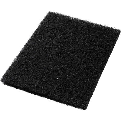 "Global Industrial™ 14"" x 20"" Black Stripping Pad - 5 Per Case"
