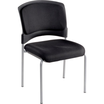 Interion® Stacking Chair - Fabric - Black - Brookville Collection