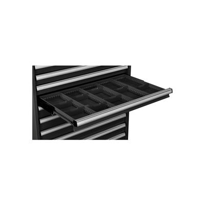 "Global Industrial™ Dividers for 3""H Drawer of Modular Drawer Cabinet 36""Wx24""D, Black"