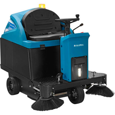 """Global Industrial™ Auto Ride-On Sweeper 49"""" Cleaning Path"""