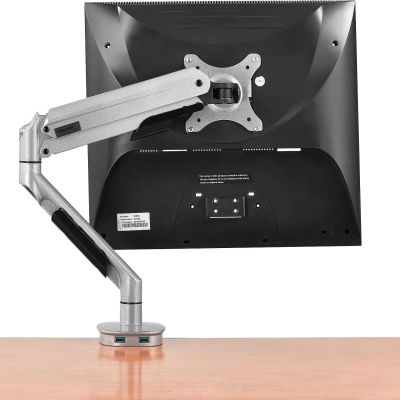 Interion® Gas Spring Single Monitor Desk Mount