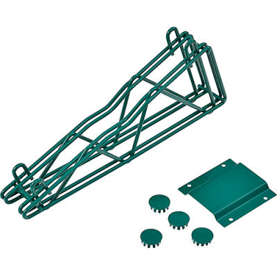 "12"" Double Arm Fixed Shelf Bracket - Poly-Green®"